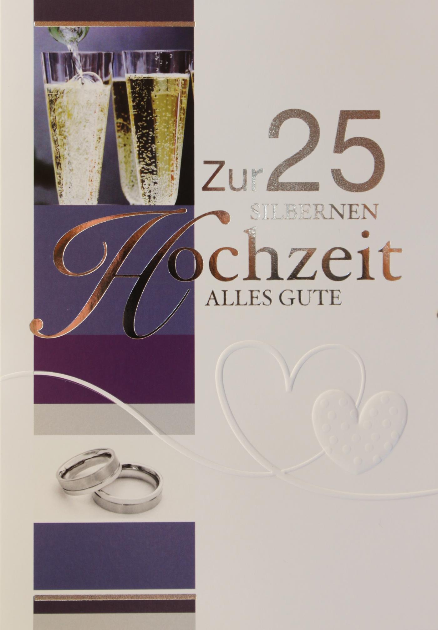 m200 silberhochzeit gl ckwunschkarten gro handel. Black Bedroom Furniture Sets. Home Design Ideas